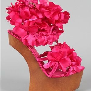 Shoes - Flower Wedges